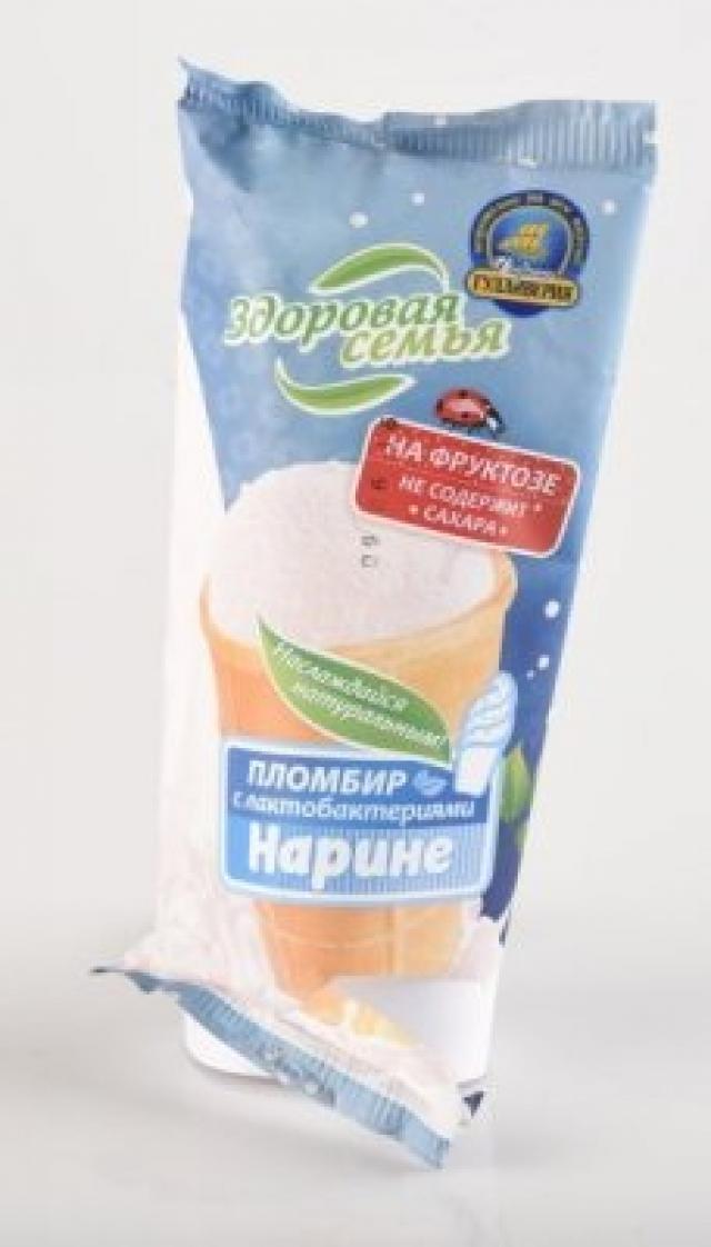 Биомороженое Здоровая семья стакан вафельный Нарине пломбир 70г купить в Москве по цене от 0 рублей