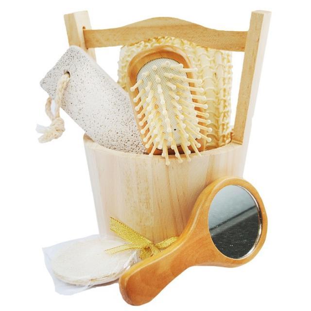 Набор банный (расчёска/пемза/мочалка) №5 2313685 купить в Москве по цене от 0 рублей