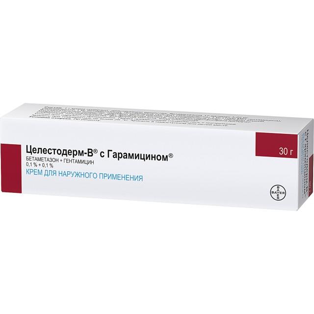 Целестодерм В с гарамицином крем 30г купить в Москве по цене от 560 рублей