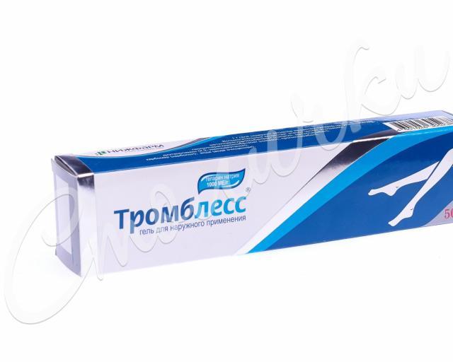 Тромблесс гель 1000 ЕД/г 50г купить в Москве по цене от 353 рублей