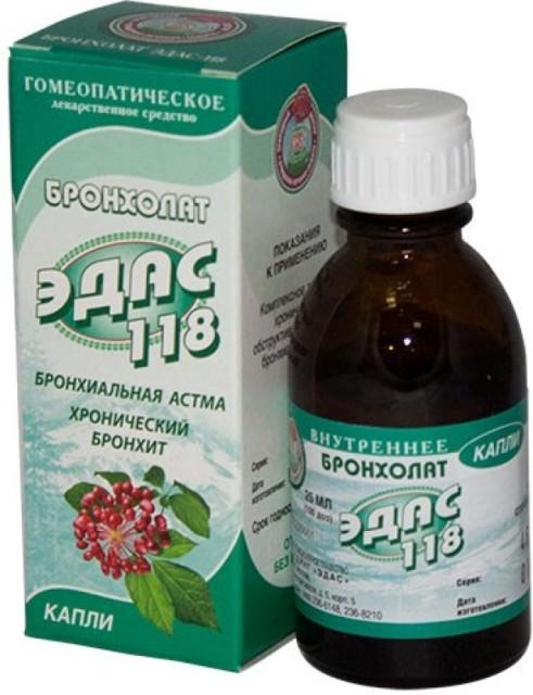 Эдас-118 Бронхолат (бронхит, астма) капли 25мл купить в Москве по цене от 105 рублей