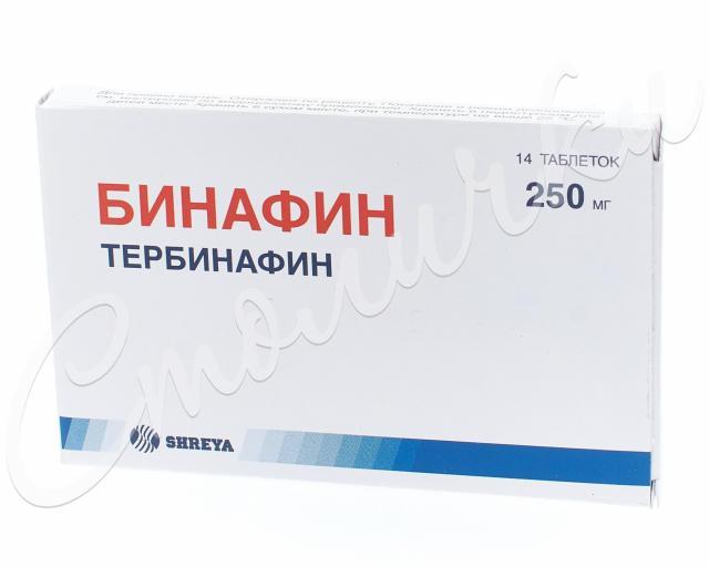 Бинафин таблетки 250мг №14 купить в Москве по цене от 667 рублей