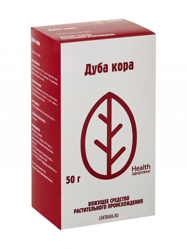 Дуб кора Здоровье 50г купить в Москве по цене от 34 рублей