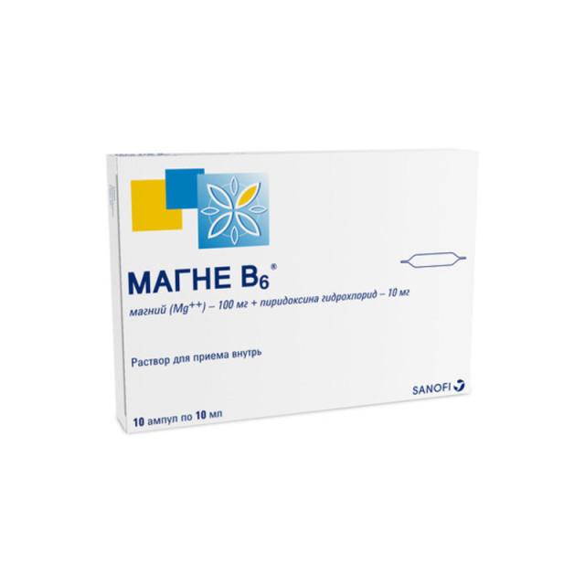Магне B6 раствор для внутреннего прим.10мл №10 купить в Москве по цене от 539 рублей