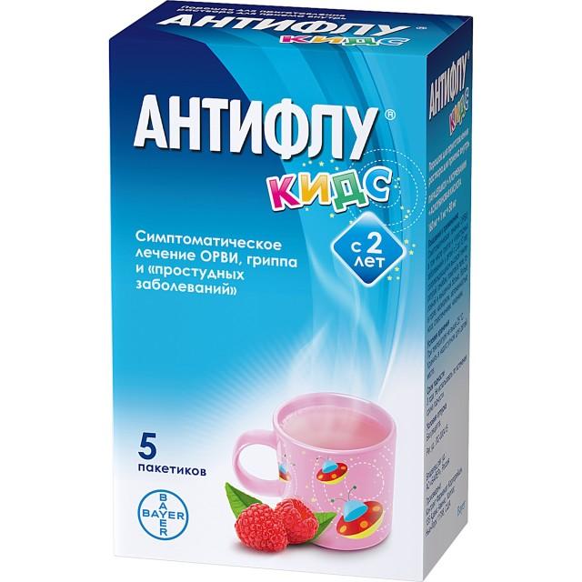 АнтиФлу Кидс порошок для приготовления раствора внутр 12г №5 купить в Москве по цене от 227 рублей
