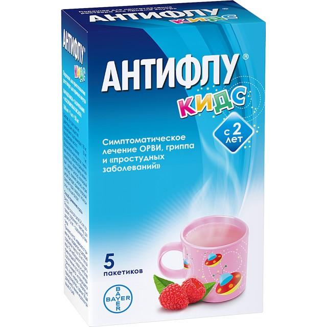 АнтиФлу Кидс порошок для приготовления раствора внутр 12г №5 купить в Москве по цене от 254 рублей