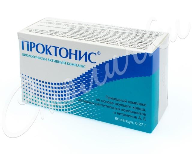 Проктонис капсулы 0,27г №60 купить в Москве по цене от 343 рублей