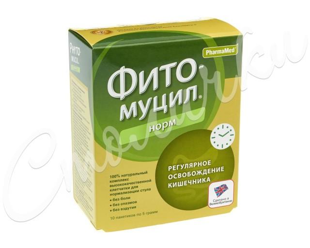 Фитомуцил Норм порошок пак. 5г №10 купить в Москве по цене от 310 рублей