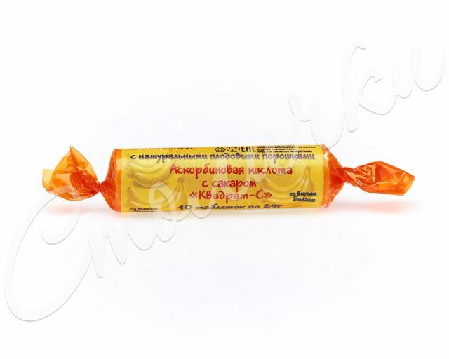 Аскорбиновая к-та крутка с сахаром Банан таблетки №10 купить в Москве по цене от 14 рублей