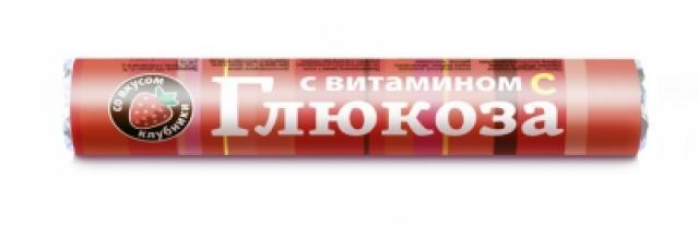 Глюкоза с вит. С Клубника таблетки №18 купить в Москве по цене от 0 рублей
