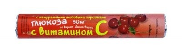 Глюкоза с вит. С Вишня таблетки №18 купить в Москве по цене от 0 рублей