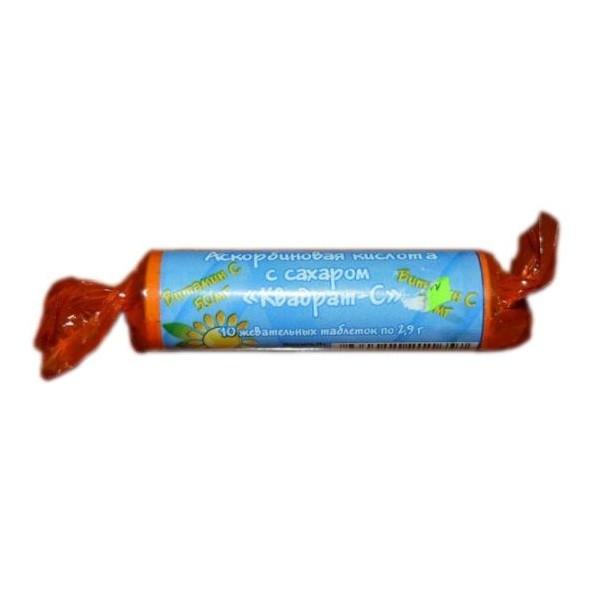 Аскорбиновая к-та крутка с сахаром таблетки №10 купить в Москве по цене от 19 рублей
