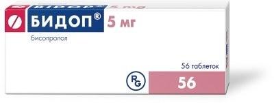 Бидоп таблетки п.о 5мг №56 купить в Москве по цене от 245.5 рублей