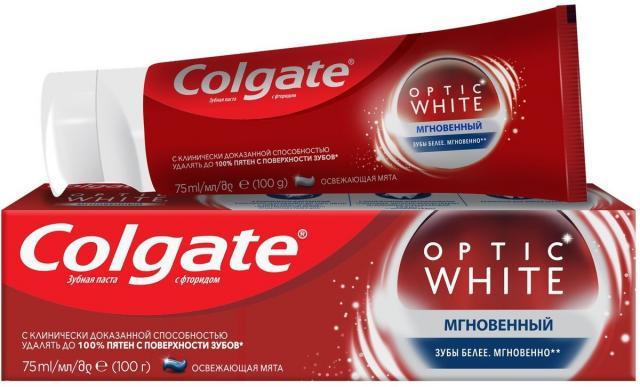 Колгейт зубная паста Оптик Уайт 75мл купить в Москве по цене от 247 рублей