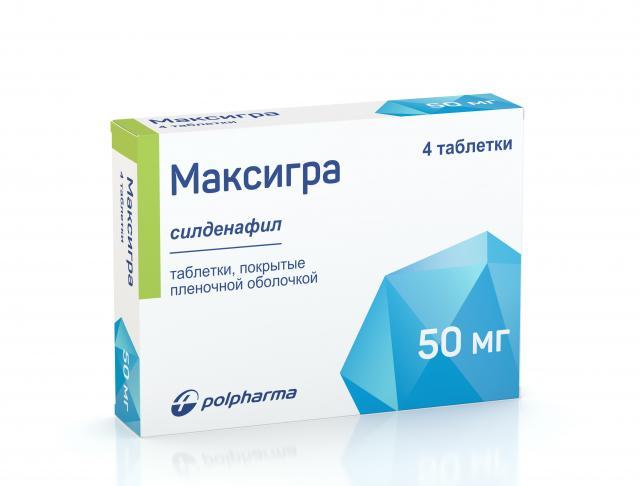 Максигра таблетки п.о 50мг №4 купить в Москве по цене от 662 рублей