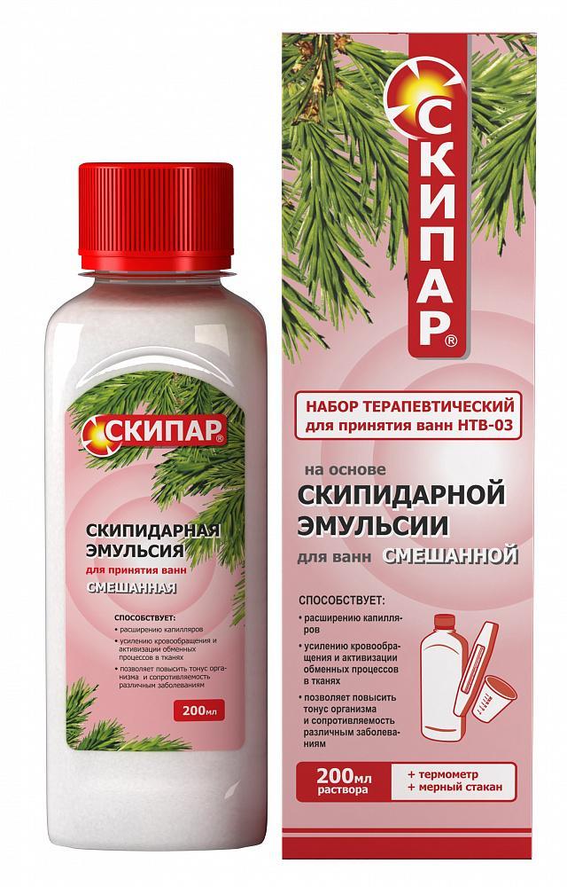 Скипар эмульсия для ванн смешанная 200мл набор купить в Москве по цене от 300 рублей