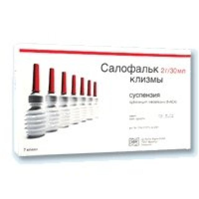 Салофальк суспензия д/рект. введ. 2г №7 купить в Москве по цене от 1161 рублей