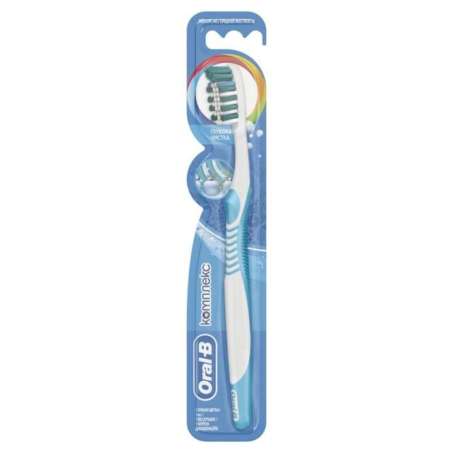 Орал Би зубная щетка Комплекс Глубок.чистка 40 средняя купить в Москве по цене от 199 рублей