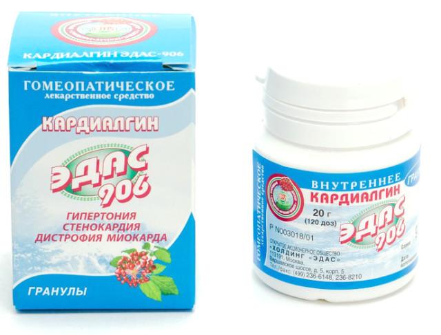 Эдас-906 Кардиалгин (серд.-сосуд. сист.) гранулы 20г купить в Москве по цене от 0 рублей