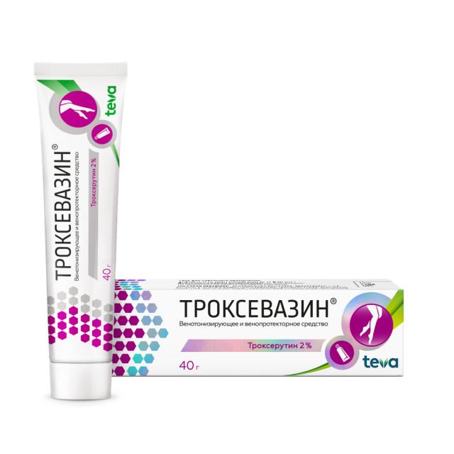 Троксевазин гель 2% 40г купить в Москве по цене от 264 рублей