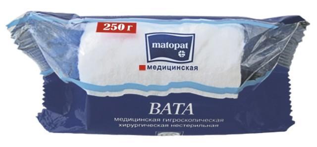 Матопат вата хлопок 250г купить в Москве по цене от 105 рублей