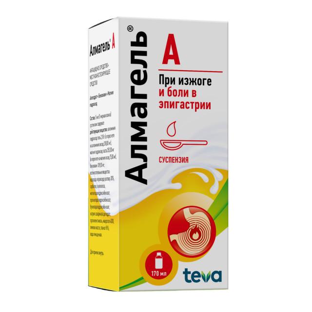 Алмагель А суспензия внутрь 170мл купить в Москве по цене от 301 рублей