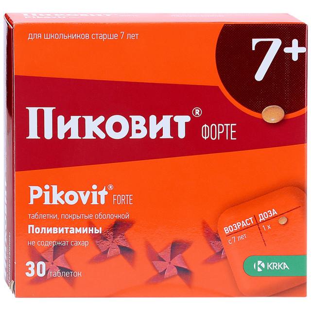 Пиковит форте таблетки п.о №30 купить в Москве по цене от 386 рублей