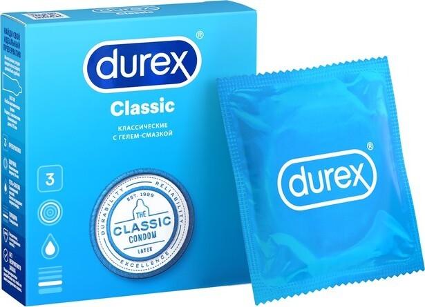 Дюрекс презервативы Classic (классические) №3 купить в Москве по цене от 192 рублей