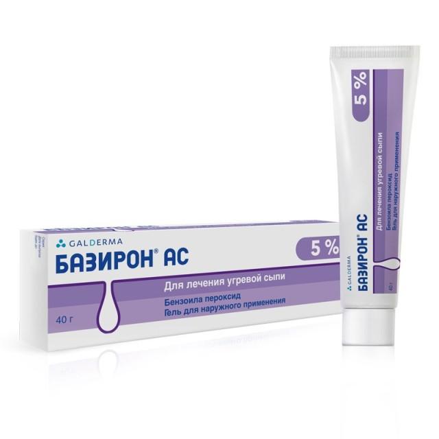 Базирон АС гель 5% 40г купить в Москве по цене от 845 рублей