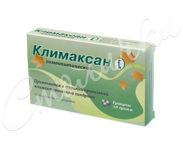 Климаксан гранулы 10г купить в Москве по цене от 114 рублей
