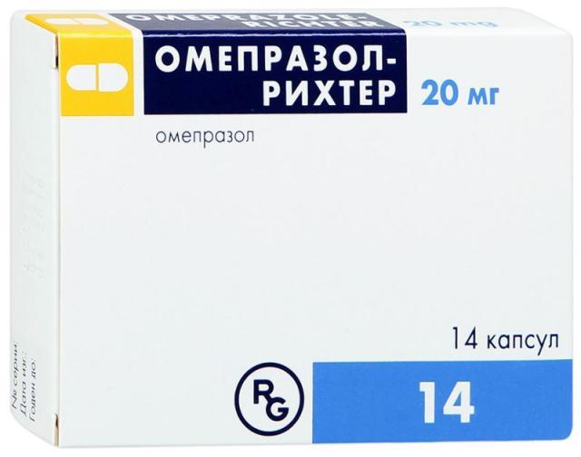 Омепразол Рихтер капсулы 20мг №14 купить в Москве по цене от 0 рублей
