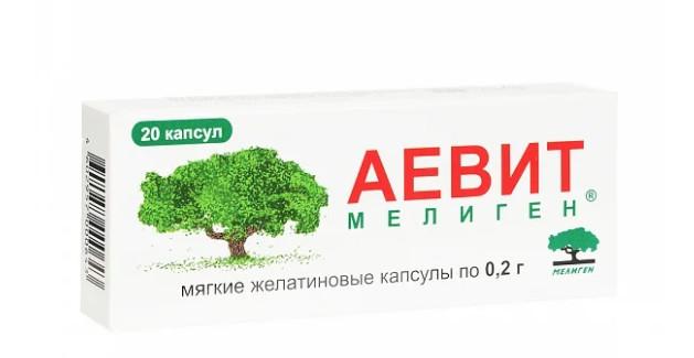 Аевит капсулы 200мг №20 купить в Москве по цене от 45 рублей