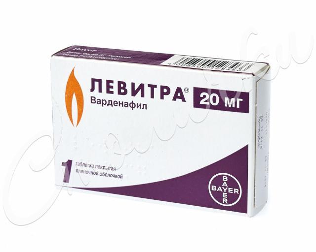 Левитра таблетки п.о 20мг №1 купить в Москве по цене от 1010 рублей