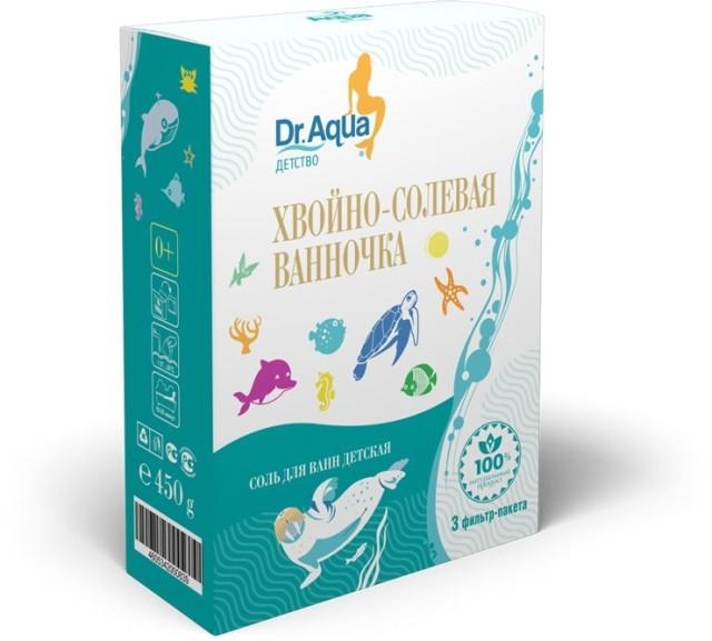 Др. Аква соль для ванн для детей хвойно-солев.ванночка 450г купить в Москве по цене от 0 рублей