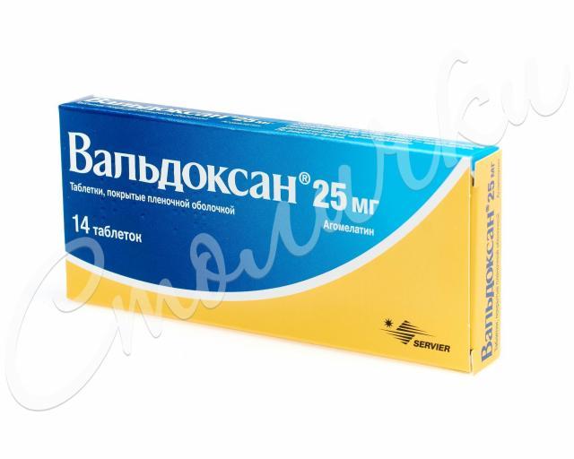 Вальдоксан таблетки 25мг №14 купить в Москве по цене от 870.5 рублей