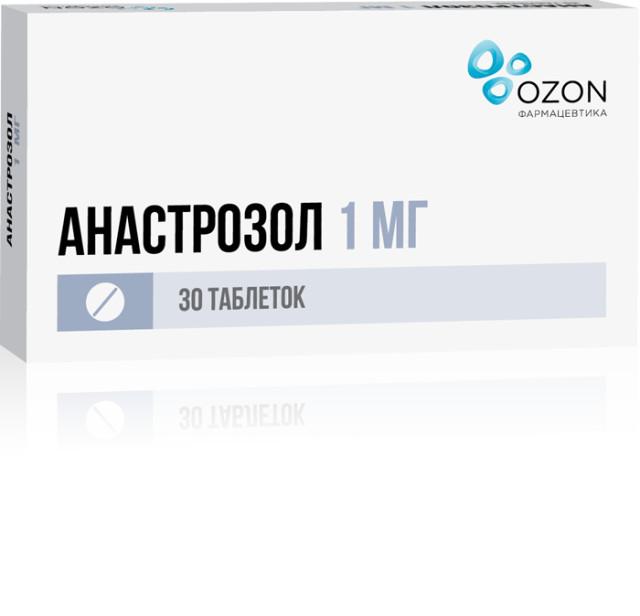 Анастрозол таблетки п.о 1мг №30 купить в Москве по цене от 1526.5 рублей