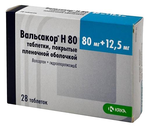 Вальсакор Н таблетки п.о 80мг+12,5мг №30 купить в Москве по цене от 413 рублей