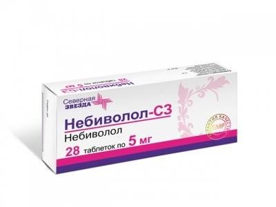 Небиволол СЗ таблетки 5мг №28 купить в Москве по цене от 322 рублей