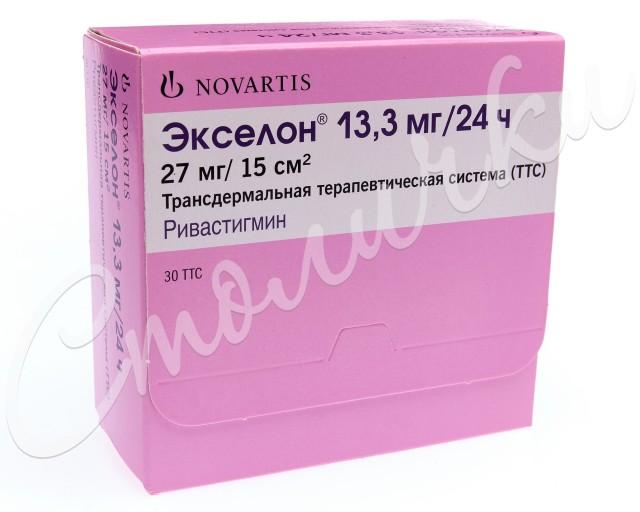 Экселон ТДТС 13,3мг/сут №30 купить в Москве по цене от 3496 рублей