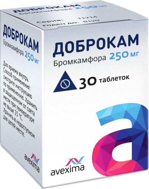 Доброкам таблетки 250мг №30 купить в Москве по цене от 174 рублей