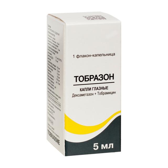 Тобразон капли глазные 5мл купить в Москве по цене от 332 рублей