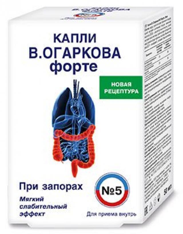 Капли внутрь В.Огаркова №5 форте 50мл купить в Москве по цене от 219.1 рублей