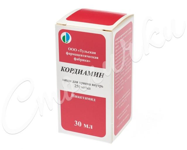 Кордиамин капли внутрь 30мл купить в Москве по цене от 62 рублей