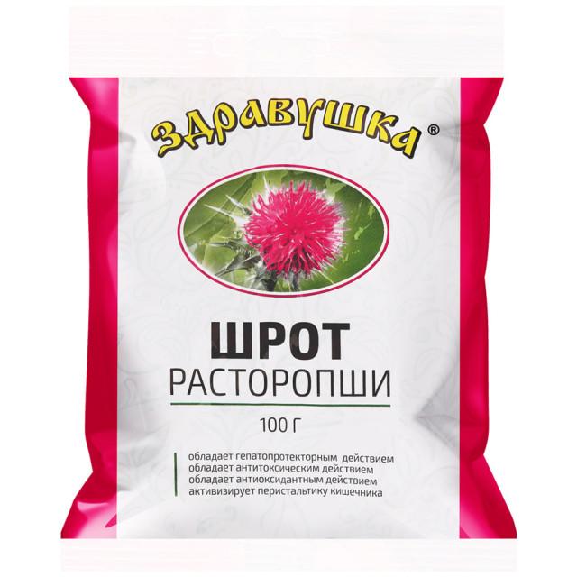 Здравушка расторопша шрот 100г купить в Москве по цене от 85 рублей