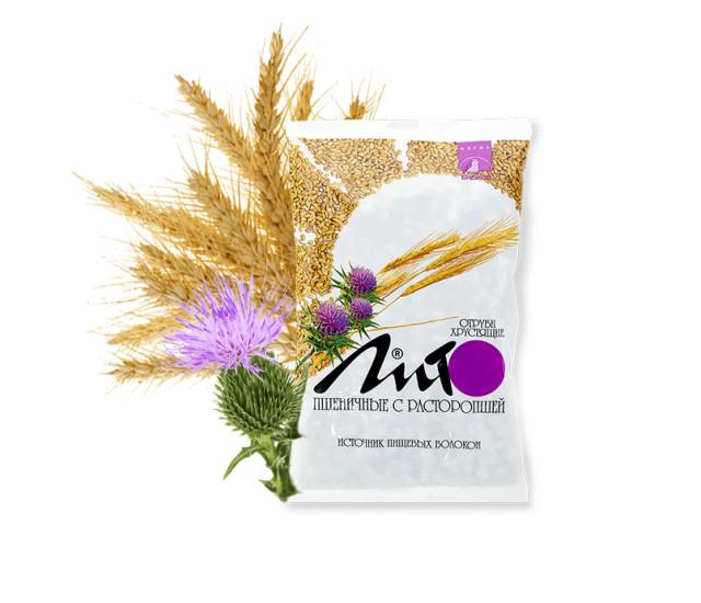 Отруби ЛИТО пшеничные Расторопша/кальций 200г купить в Москве по цене от 61 рублей