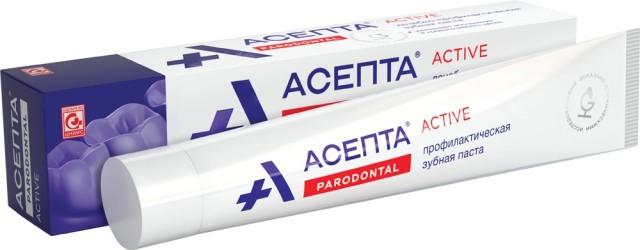 Асепта зубная паста лечебно-проф. 75г купить в Москве по цене от 191 рублей