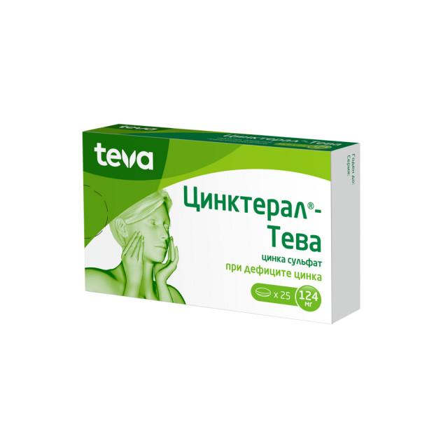 Цинктерал таблетки п.о 124мг №25 купить в Москве по цене от 300 рублей