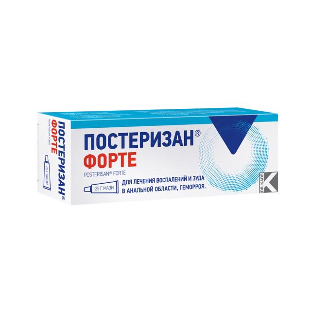 Постеризан форте мазь 25г купить в Москве по цене от 603 рублей