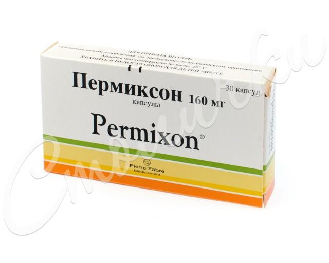 Пермиксон капсулы 160мг №30 купить в Москве по цене от 859 рублей