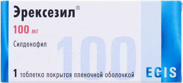 Эрексезил таблетки п.о 100мг №1 купить в Москве по цене от 0 рублей